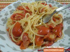 Spaghetti veloci datterini e ricotta