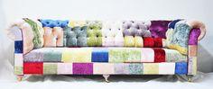 velvet chesterfield patchwork sofa.