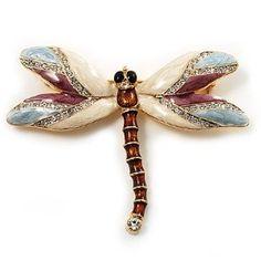 Enamel dragonfly broach.