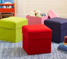 Storage cubes will be great for some of those irrating toys that have too many pieces.