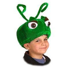 Something similar for catapillar head. Grasshopper Child Hat from Windy City Novelties