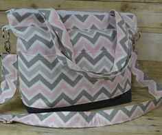 Bella - in pink and gray chevron