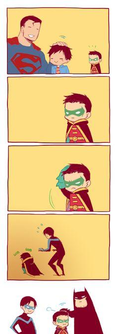 Cuando Bruce no sabe lo que es cuidar de un niño...