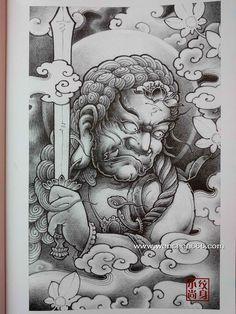 祥云枫叶不动明王纹身手稿 Dragon Tattoos For Men, Japanese Dragon Tattoos, Japanese Tattoo Art, Japanese Art, Traditional Japanese Tattoo Designs, Chinese Tattoo Designs, Japan Tattoo Design, Temple Tattoo, Hanya Tattoo