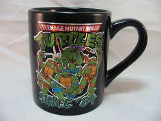 Teenage Mutant Ninja Turtles Since '84 Coffee Cup Mug 14 Oz. Black Holographic #ViacomNickelodeon