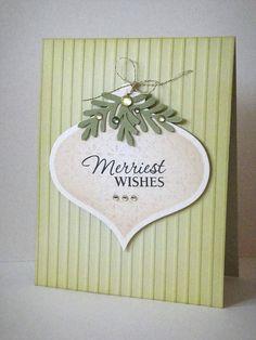 Christmas ornamen cas card.