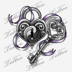 Small Lock and Key for My Ankle | Lock & Key #114622 | CreateMyTattoo.com
