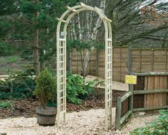 Basic Rose Arch combines romantic features with a light structure, which makes it easy to use in any part of your garden in order to add a bit of retro character. Garden Fencing, Fence, Garden Arches, Arbour, Wakefield, Garden Furniture, Romantic, Outdoor Structures, Retro