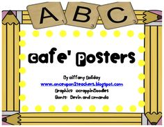 Hey Teachers...Great posters for CAFE' in reading!