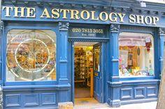 The legendary Astrology Shop in Neil Street, London UK.