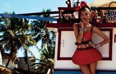 Influence and Stardoll: Editorial ♥ || Ill be at the beach: Magdalena Frackowiak for Vogue Japan April 2013 by Giampaolo Sgura