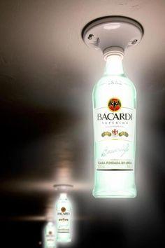 80 Ways to Reuse Your Glass Bottle Ideas 43 crafts diy man cave 80 Ways … - Bottle Crafts Bottle Art, Bottle Crafts, Recycled Glass Bottles, Man Cave Home Bar, Bacardi, Liquor Bottles, Liquor Bottle Lights, Bar Lighting, Lighting Ideas