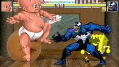 Annoying Orange & Infant Mutant Naughty Baby VS Venom & SpongeBob SquarePants In A MUGEN Match This video showcases Gameplay of SpongeBob SquarePants And Venom The Supervillain VS Infant Mutant Naughty Baby And The Annoying Orange In A MUGEN Match / Battle / Fight