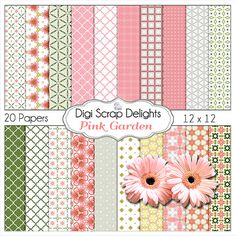 50% OFF TODAY Pink Garden Digital Scrapbook by DigiScrapDelights  #digiscrapdelights #scrapbooking #roses #pink # spring #scrapbookingkits #clipart