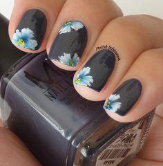 One stroke flower nail art