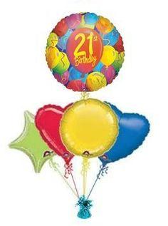 21st Painted Balloon King Birthday Balloons