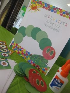 Gluing/3 Step Directions Skills - the Very Hungry Caterpillar by Eric Carle