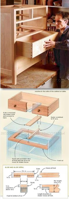 Making Drawer Center Guide - Drawer Construction and Techniques | http://WoodArchivist.com