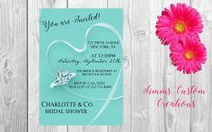 Tiffany & Co. Bridal Shower Invite by SimmsCustomCreations on Etsy