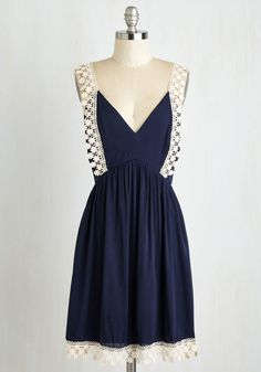 Designated for Day-cation Dress. All you need to make a one-day getaway a true dream trip is this navy blue dress! #blue #modcloth
