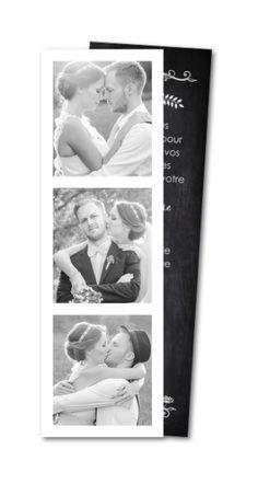Carte de remerciement mariage Ardoise vintage (MTR-144) Grown Up Parties, Winter Wonderland Wedding, Save The Date, Growing Up, Polaroid Film, Thankful, Invitations, Photos, Madame