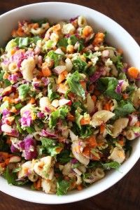 "Clean Eating Chopped Salad with Creamy Vinaigrette Dressing by ""The Joy of Clean Eating"""