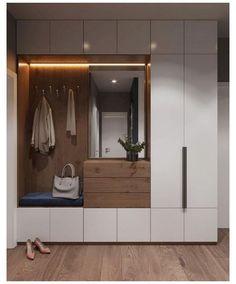 Attic Bedroom Storage, Bedroom Closet Design, Modern Bedroom Design, Home Room Design, Home Interior Design, Bedroom Organization, Organization Ideas, Home Entrance Decor, House Entrance