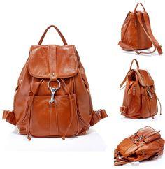 Fantastic!!!!     Spring 2014 New Fashion Genuine leather backpack women message travel handbags  multicam denim back pack schoolbag  sport   $87.00 (28%off) only  $62.64NOW!