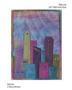 Art quilt by Nancy Mirman