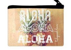 """Pineapple Heaven """"Aloha Aloha Aloha"""" Pouch"""