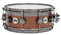 Collector's Series Maple/Mahogany Top Edge™ Snare - Natural Lacquer over Mahogany with Black Nickel Hardware