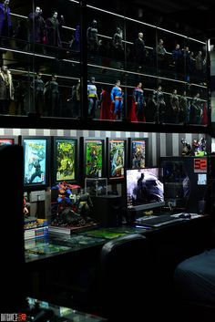 Meet this week's Featured Collector, Dio Ortigas from the Philippines, who enjoys connecting with others through his shared passions for collecting and photography. Comic Room, Geek Room, Gaming Room Setup, Gaming Rooms, Appartement Design, Action Figure Display, Game Room Design, Toy Rooms, Displaying Collections