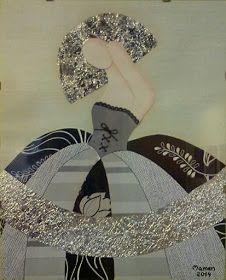 Cuadros Meninas Modernas Infanta Margarita, Palette Knife Painting, Romantic Couples, Paint Designs, Paper Piecing, Mixed Media Art, Sewing Hacks, Quilt Blocks, Paper Art