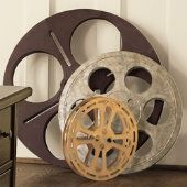want old school film reels for family room.