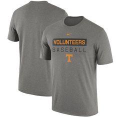 Tennessee Volunteers Nike Baseball Team Issue Legend Performance T-Shirt - Charcoal