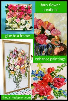Fearless Friday, Popping Poppies, Saving a Painting | The Painted Apron Fearless Friday, Painting Tutorials, Flower Ideas, Faux Flowers, Painting Inspiration, Vignettes, Painted Furniture, Flower Arrangements, Poppies
