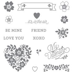 Stampin Up Bloomin Love Stamp Set