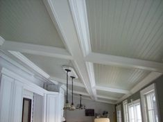 DIY Beadboard Ceiling And Crown Molding! Beadboard Porch Ceiling For Aesthetic Feel All Furniture. The Sunday Project Sneak Peaks Black Wainscoting . Beadboard, Ceiling Tiles Basement, Ceiling Treatments, Ceiling Decor, Ceiling, Ceiling Design, Diy Ceiling, Vinyl Beadboard, Ceiling Beams