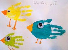 Birds... Hand Print Art