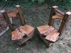 mirrored set  treated pine and black oak by fourChamberForge, $950.00