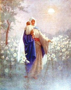 Madonna - Mary & Jesus - by Margaret Tarrant by Waiting For The Word, via Flickr