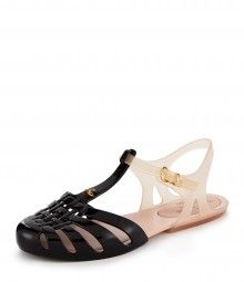 Black/White Aranha Sandals