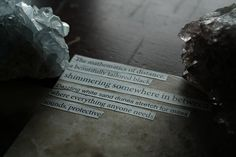 The Mathematics of Distance, Zine Page Photography, Natural Rustic Poetry Home Decor, Gifts under 15, Gemstone Decoration Photography