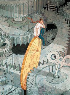 Brillante ilustración editorial de Victo Ngai | OLDSKULL
