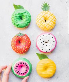 "8,053 Likes, 35 Comments - AmourDuCake (@amourducake) on Instagram: ""YES OR NO?? fruit donut  by @anettvelsberg Its so cute!!! #lemon #greenlemon #pineapple…"""