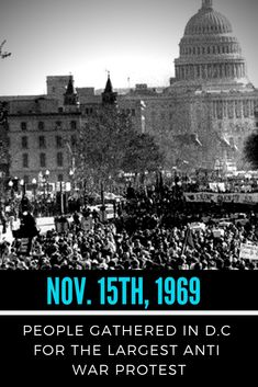 On November 1969 over a million people gathered to protest the Vietnam war. Over a million people may have died because the U. covered up the real reason for the Vietnam War. Read more about the history here London History, Us History, American History, Vietnam Protests, Vietnam Veterans, South Vietnam, Hanoi Vietnam, Vietnam War Photos, History Magazine