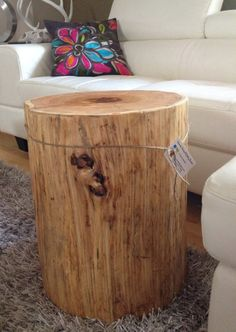 Wood Stump  Side Tables End Tables Coffee by SerenityStumps, $250.00