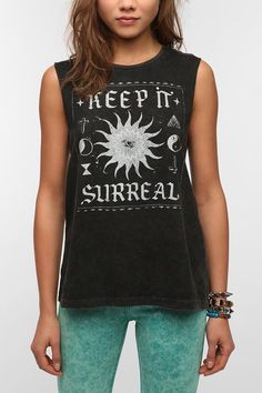 Mont La Roc Mineralized Surreal Muscle Tee #mystical #urbanoutfitters