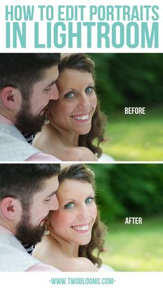 Editing portraits in Lightroom | Two Blooms Lightroom Presets for Portraits