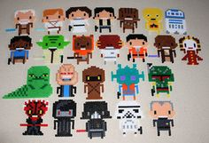 Star Wars Characters perler beads by ThePlayfulPerler on deviantart